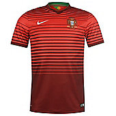 2014-15 Portugal Home World Cup Football Shirt - Red