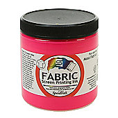 Speedball Fabric Screen Printing Ink - Fluorescent Pink 236ml