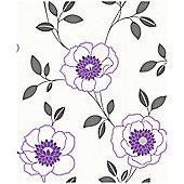 Arthouse Diva Motif Purple Wallpaper