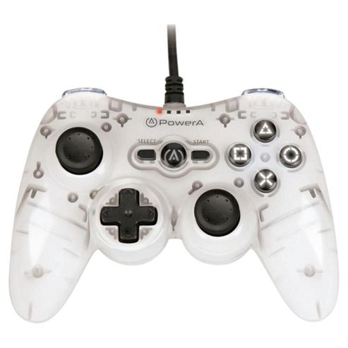 Mini Wired PS3 Controller - Grey/White.