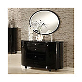 Birlea Aztec Dresser and Mirror Set - Black