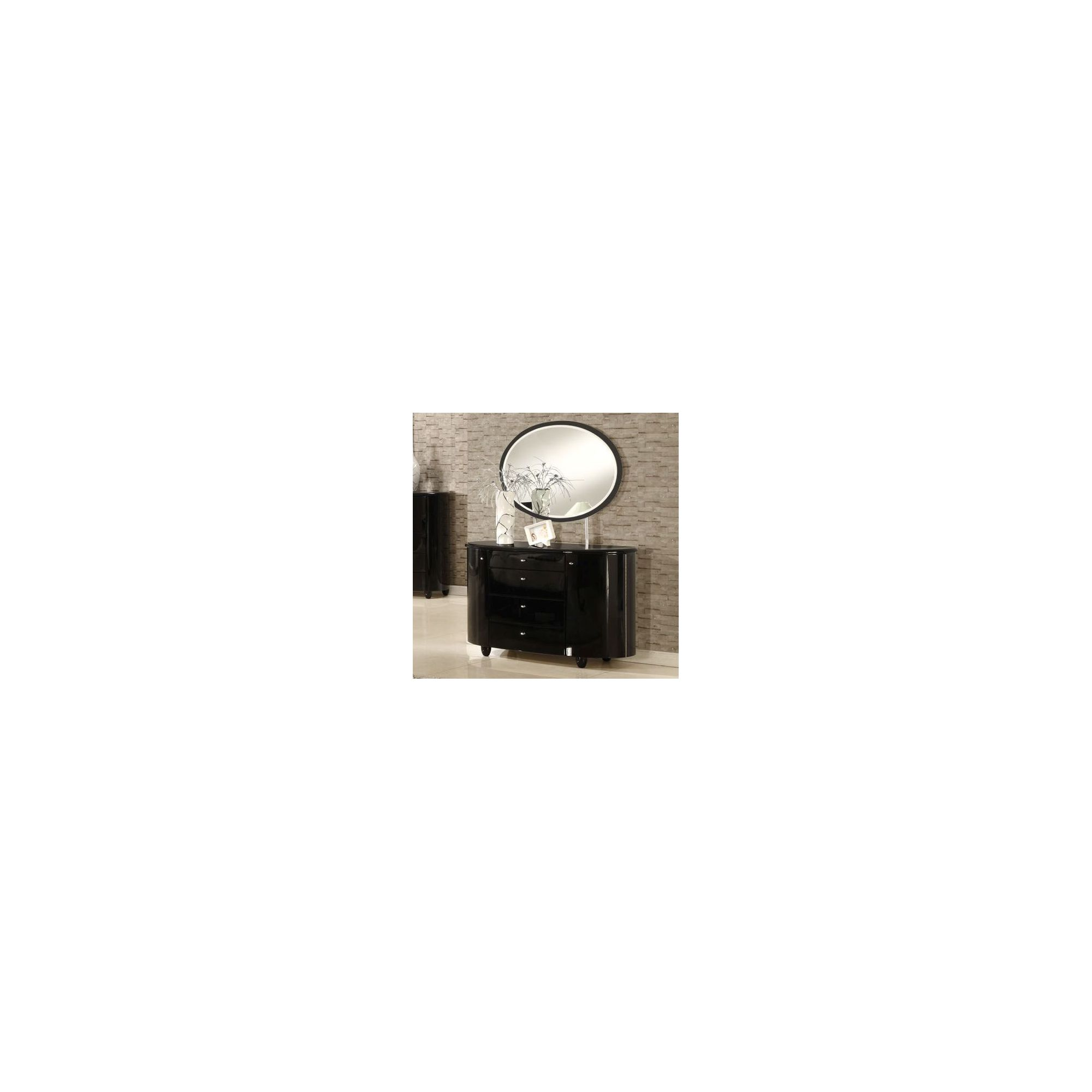 Birlea Aztec Dresser and Mirror Set - Black at Tesco Direct