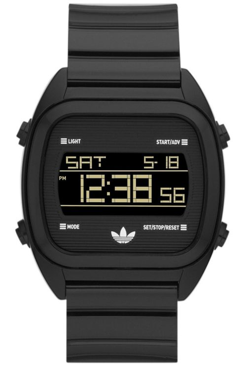 Adidas Gents Black Digital Resin Strap Watch ADH2726