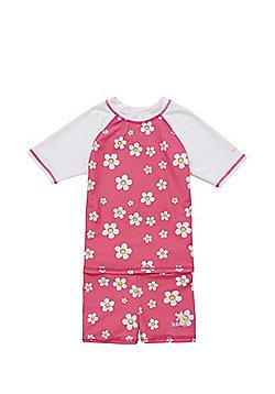 Babeskin Floral UPF 50+ Sunsafe Surf Suit - Pink