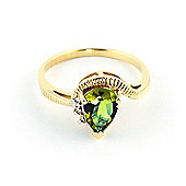 QP Jewellers Diamond & Peridot Belle Diamond Ring in 14K Gold
