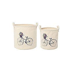 Dickins & Jones Set Of 2 Bicycle Laundry Baskets