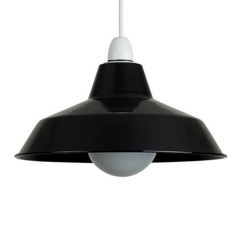 buy colby retro style metal ceiling light shade gloss. Black Bedroom Furniture Sets. Home Design Ideas