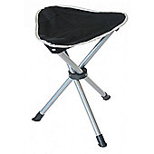Yellowstone Tripod Folding Camping Chair Stool Black