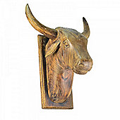 Extra Large Wooden Cow's Head Wall Art