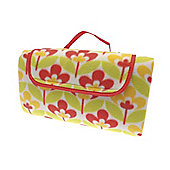 Country Club Picnic & Beach Blanket 130 x 150cm, Yellow Floral