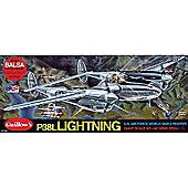 Guillows P-38 Lightning 2001 Powered Balsa Aircraft 1:16 Flying Model Kit