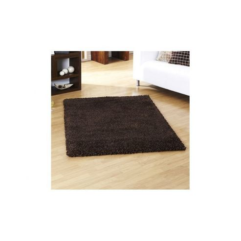 Ultimate Rug Co Lifestyle Chocolate Shag Rug - 80cm x 150cm