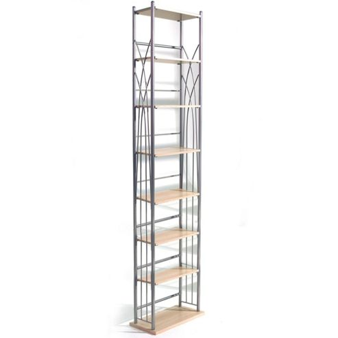 Dakota - 140 Dvd Blu-ray / 210 Cd Media Storage Tower Shelves - Silver