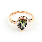 QP Jewellers Diamond & Green Amethyst Belle Diamond Ring in 14K Rose Gold