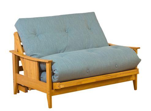 Kyoto Atlanta 2 Seater Convertible Sofa Clic Clac Bed - Louisa Natural