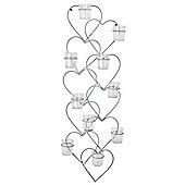 Cupid' 83cm Multi-Heart Wall Mountable Tealight Holder Home Decor
