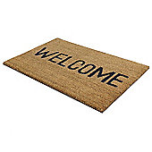 JVL Welcome PVC Coir Indoor / Outdoor Mat