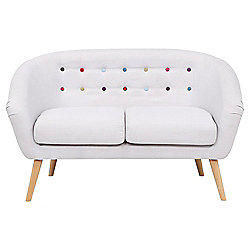 Jemima Tub Sofa Grey/Multi Button