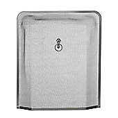 Premier Housewares Edge Fire Screen - Nickel