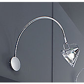 Lucente Wedge Wall Light in Chrome