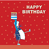 Holy Mackerel Greetings Card- Chef Birthday Cake