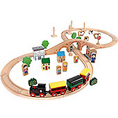 John Crane 50 PIece Wooden Train Set
