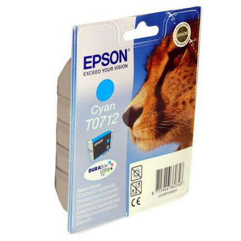 Epson 5.5 ml Original Ink Cartridge for Epson Stylus Office BX600FW Printer - Cyan