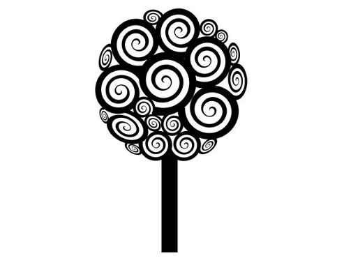 Swirly Tree Wall Sticker