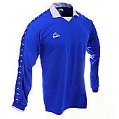 Bukta Retro George Best Style Football Shirt Royal Blue - Multi