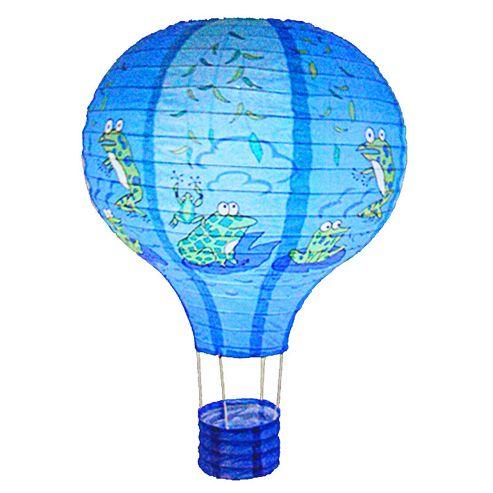 Loxton Lighting Frog Hot Air Balloon Paper Lantern