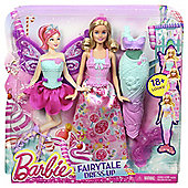 Barbie Fairytale Dress up 3 Pack