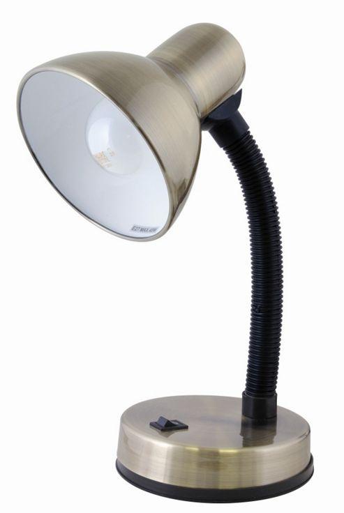 Lloytron 40w Home Essence Flexi Desk Lamp Antique Brass