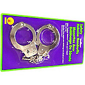 Rubies Fancy Dress Costume - HANDCUFFS WITH SAFETY RELEASE