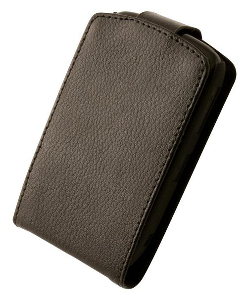 "Tortoise™ Genuine Leather Flip Case BlackBerry® Curveâ""¢ 9300 Black"