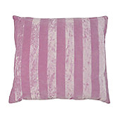 In The Mood Collection© Stripey Contrast Cushion Cover - Lilac