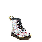 Dr Martens Toddlers Brooklee Flowers Boot - White