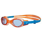 Speedo Junior Futura Biofuse Swimming Goggles, Orange/Blue