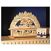 Festive Wooden Candle Bridge with Santa in his Sleigh