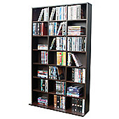Techstyle 21 Cubby 588 CD / 378 DVD Media Storage Unit - Dark Oak