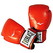 Everlast Boxing Leather Fighter Glove - Red