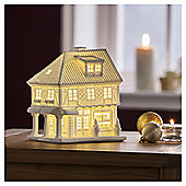 DOBBIES WHITE PORCELAIN LIGHT UP HOUSE