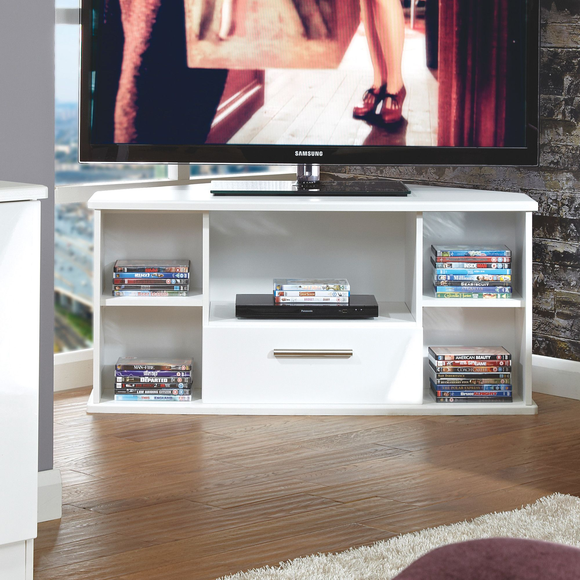 Electronics Welcome Furniture Living Room Corner Tv Stand Noche Special Offers