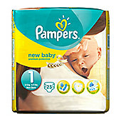 Pampers New Baby Size 1 (Newborn) Nappies (2-5Kg / 4-11lbs) - 23 Pack
