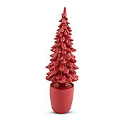 Small Red Coloured Christmas Tree Decorative Ornament