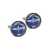 RAF Blueprint Hurricane Cufflinks. Official Royal Air Force Licensed Product