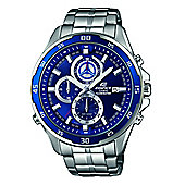Casio Edifice Mens Silver Stainless Steel Chronograph Date Watch EFR-547D-2AVUEF