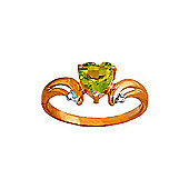 QP Jewellers Diamond & Peridot Affection Heart Ring in 14K Rose Gold