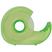 Q-Connect Hand Held Tape Dispenser c/w One Roll Tape 19mm x33 Metres KF27009