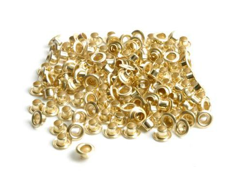 Eyelets 3mm Gilt 144 Pk outside diameter 7mm