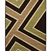 Think Rugs Matrix Brown/Green Rug - 160 cm x 220 cm (5 ft 3 in x 7 ft 3 in)